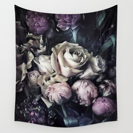 Roses and peonies vintage style Wall Tapestry