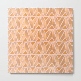 mala, african tribal pattern tangerine Metal Print