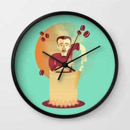 Eduardo's coffee Wall Clock