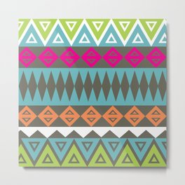 Aztec Pattern No. 17 Metal Print