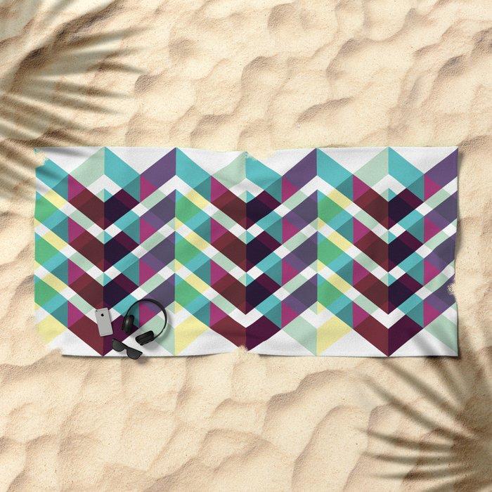 Geometric Pattern #4 (Zig Zag) Beach Towel