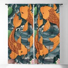 Carp Koi Fish in pond 001 Blackout Curtain