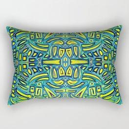 Blue tonic stamp Rectangular Pillow