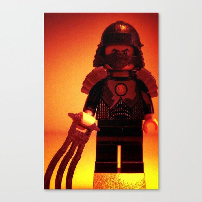 TEENAGE MUTANT NINJA TURTLES, SHREDDER CUSTOM LEGO MINIFIGURE by Chillee  Wilson Canvas Print by customizemyminifig