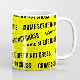 Crime Scene Tape Pattern Coffee Mug