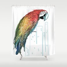 Polly in the City Shower Curtain