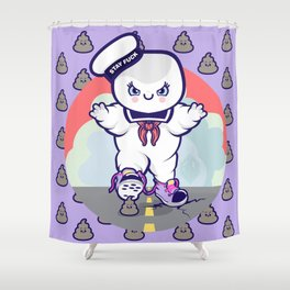 Marshmallow Man, Stay Fuck.  Shower Curtain