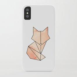 Geometric Fox - Orange iPhone Case