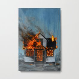 House on Fire Metal Print