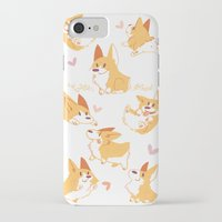 corgi iPhone & iPod Cases featuring Corgi by Inkinesss