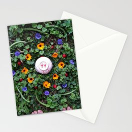 Green Beans And Cherries Mandalla Stationery Cards