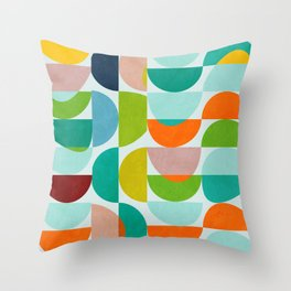 shapes abstract III Throw Pillow
