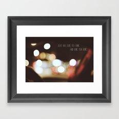 Ignte your Bones Framed Art Print