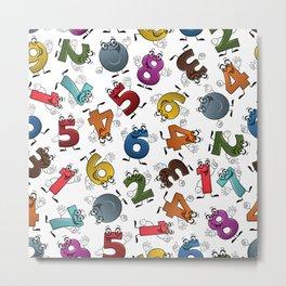 Numbers Patterns  Metal Print