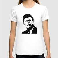 jfk T-shirts featuring JFK Poster by Steve Lovelace