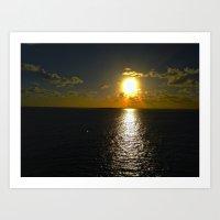 Sun Set By The Sea Art Print