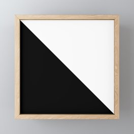 Abstract Black and White Triangle Color Block Framed Mini Art Print