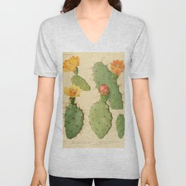 Prickly Pear Cactus Unisex V-Neck