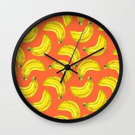 Bananas watercolor Wall Clock
