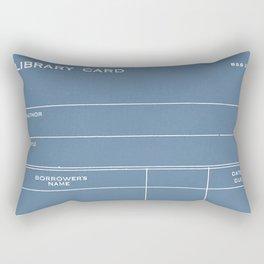 Library Card BSS 28 Negative Blue Rectangular Pillow