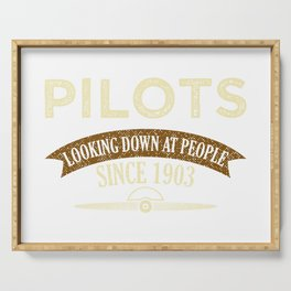 Pilot Proud Aviation Lover Gift Idea Serving Tray