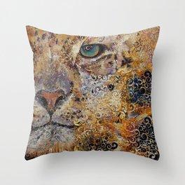Leopard Dynasty Throw Pillow