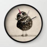 punk Wall Clocks featuring Punk by Isaiah K. Stephens