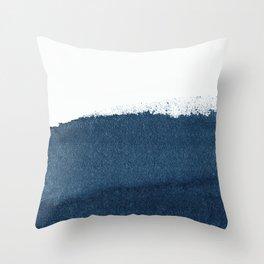 Indigo Art / Minimal Navy Print Throw Pillow