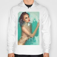 cara delevingne Hoodies featuring Cara Delevingne by Jessica Guetta
