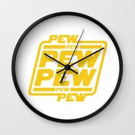Pew Pew! Wall Clock