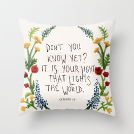For Maddy.  Throw Pillow