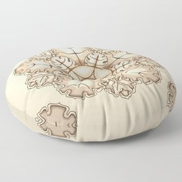 Beige elegant ornament fretwork Baroque style Floor Pillow