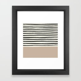 Latte & Stripes Framed Art Print