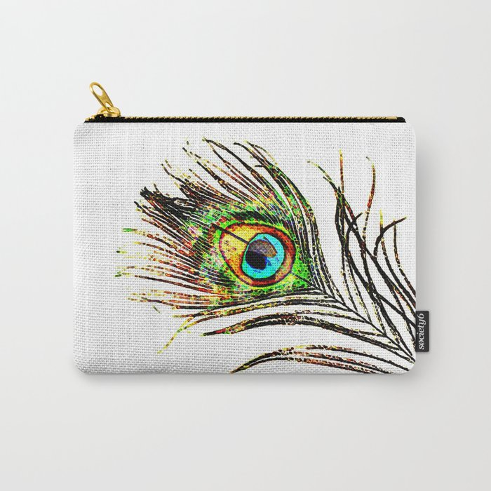 pluma de pavo real ( peacock feather ) Carry-All Pouch