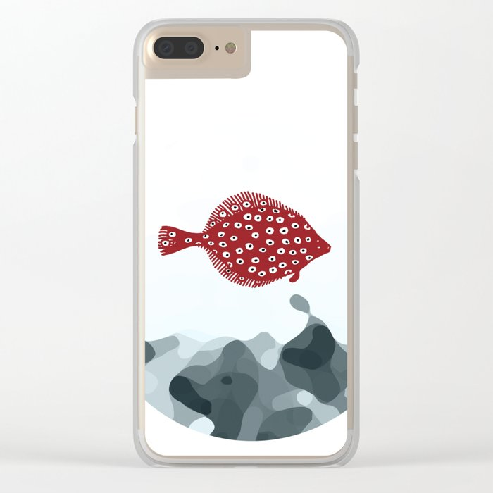 Little Red Fish Clear iPhone Case
