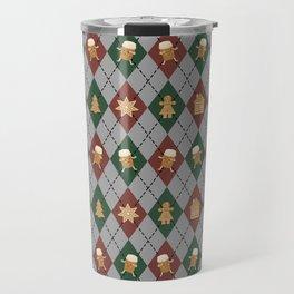 Christmas Sweater Pattern - Sugar Cookies & spice Travel Mug