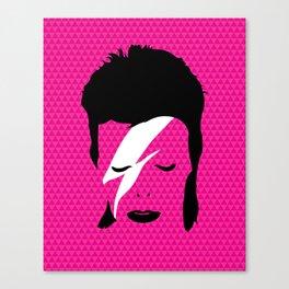 Ziggy Stardust - Pink Canvas Print