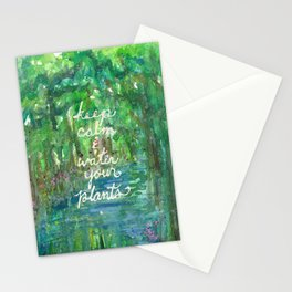 Keep Calm & Water Your Plants Stationery Cards
