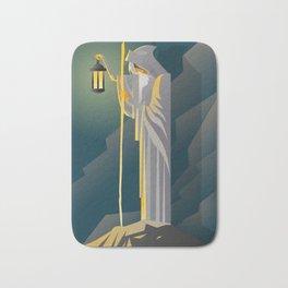 hermit tarot card Bath Mat