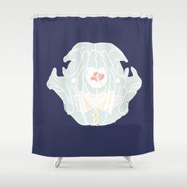 Pastel Heartbreaking Feline Shower Curtain