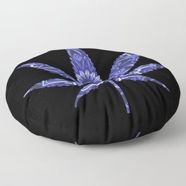 Weed : High Times Blue Floral Floor Pillow