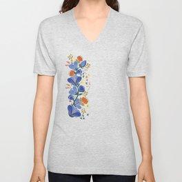 folk spring flowers no2 Unisex V-Neck
