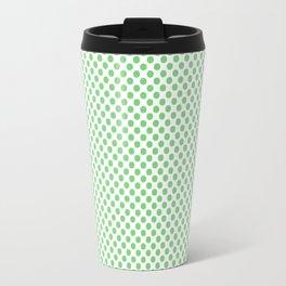 Summer Green Polka Dots Travel Mug