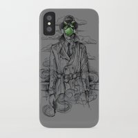 magritte iPhone & iPod Cases featuring Magritte Noir by Peter Kramar