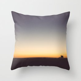 Venice Beach Sunset Throw Pillow
