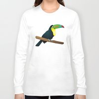 toucan Long Sleeve T-shirts featuring Toucan by Li-Bro