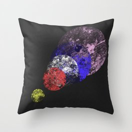 Aligned Universe - Space Abstract Throw Pillow