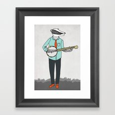 Banjo Badger Framed Art Print