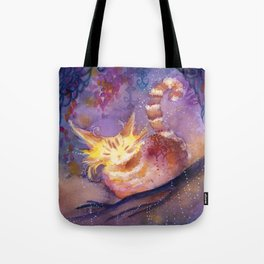 Glow in the Night Forest Tote Bag