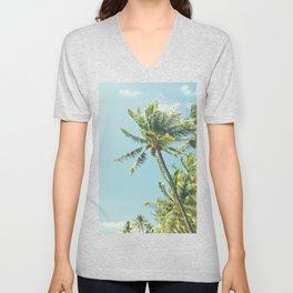 Kenolio Beach Hawaiian Coconut Palm Trees Kīhei Maui Hawaii Unisex V-Neck
